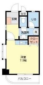 DSパークレジデンス大濠 - 所在階 の間取り図