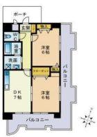 ニューライフ薬院 - 所在階 の間取り図