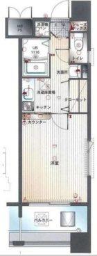 エンクレスト福岡 - 所在階 の間取り図