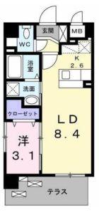 プラトー桜坂 - 所在階 の間取り図