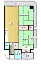 平尾ファミリア - 所在階***階の間取り図 7201