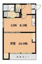 ジュネスTomachi - 所在階 の間取り図
