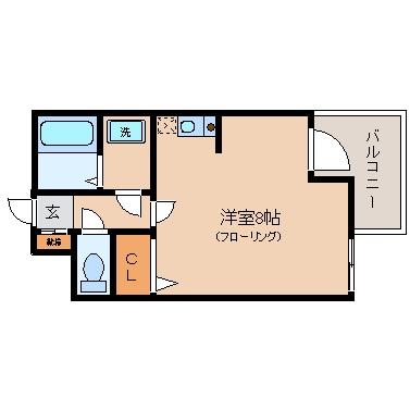 207号室-間取り