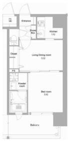 エンクレストNEO博多駅南 - 所在階 の間取り図