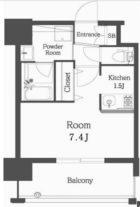 エンクレスト博多Rey - 所在階 の間取り図