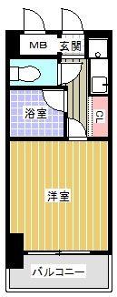 ピュアドーム博多アクティオ - 所在階 の間取り図