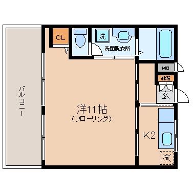 I.GビレッジII302号室-間取り
