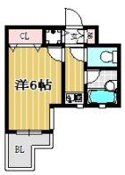ダイナコート大博通り - 所在階 の間取り図