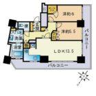 グランアルト天神タワー - 所在階 の間取り図