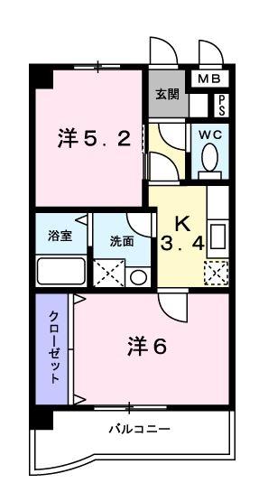 プラシード・カーサ212号室-間取り