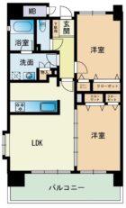 エコルクス赤坂II - 所在階13階の間取り図 8077