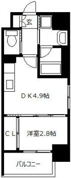 モダンパラッツォ警固 - 所在階 の間取り図
