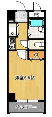 アスペクタ博多駅中央204号室-間取り