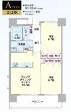 エコルクス赤坂II - 所在階13階の間取り図 8318