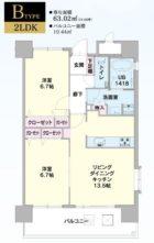エコルクス赤坂II - 所在階 の間取り図