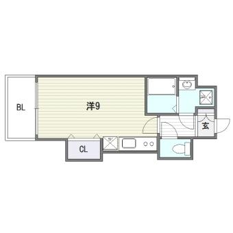 ピュアドーム博多ルネサンス303号室-間取り