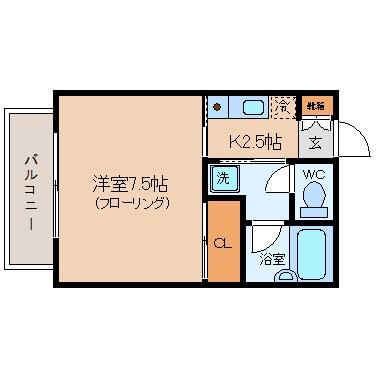 フィルコート朝日203号室-間取り