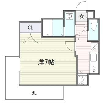 アソシアグロッツォ博多セントラルタワー505号室-間取り