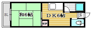 エクセレント筑紫野203号室-間取り