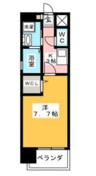 サンヒルズ薬院 - 所在階 の間取り図