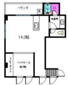 プレイン博多 - 所在階 の間取り図