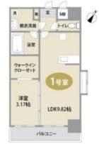 Shine博多東 - 所在階***階の間取り図 8814