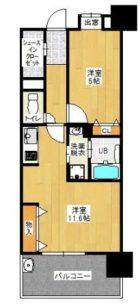 第8ケイコーマンション駅南 - 所在階 の間取り図