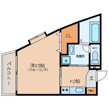アミティエ美野島301号室-間取り