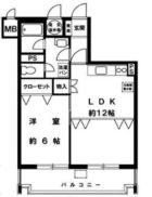 ライオンズマンション博多 - 所在階 の間取り図