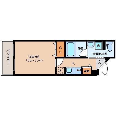 プレスタイル博多駅南SOUTH202号室-間取り