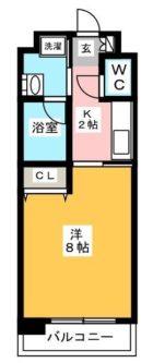 エムティースクエア吉塚駅前 - 所在階 の間取り図