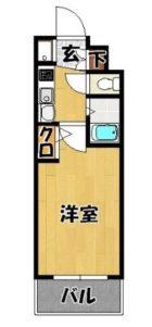 エステムコート博多・祇園ツインタワーファーストステージ - 所在階 の間取り図