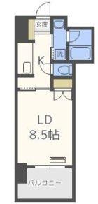 RJRプレシア博多駅南 - 所在階***階の間取り図 11133