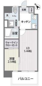 グランフォーレ薬院南 - 所在階 の間取り図