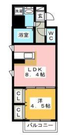 アルテハイム博多 - 所在階 の間取り図