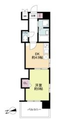 レジディア博多 - 所在階 の間取り図