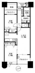 サングレート薬院駅ロイヤルウィン - 所在階 の間取り図