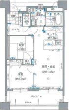 アメックス博多102プレミアム - 所在階 の間取り図