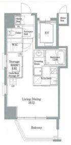 リアンシエルブルー東比恵II - 所在階 の間取り図