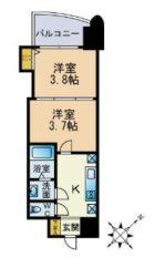 アリビオ博多駅北 - 所在階 の間取り図