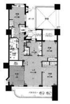 アーバンパレス天神南ハートランドタワー - 所在階***階の間取り図 9490