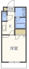 レジディア博多II - 所在階 の間取り図