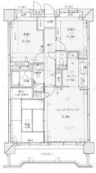 ダイアパレス博多第2 - 所在階 の間取り図