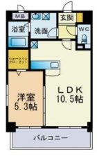 クレセント美野島 - 所在階 の間取り図