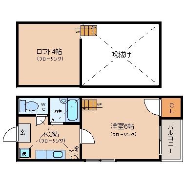 シティライフ博多203号室-間取り