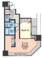 KDXレジデンス大濠ハーバービュータワー - 所在階 の間取り図