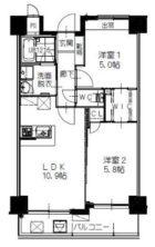ヒルクレスト百道 - 所在階 の間取り図