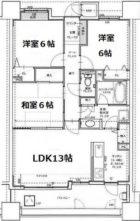 ジョイナス吉塚 - 所在階 の間取り図