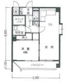 ロワールマンション博多駅南 - 所在階 の間取り図
