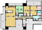 グランドメゾン薬院 - 所在階 の間取り図